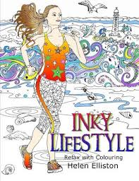 Inky Lifestyle 50 Anti Stress Adult Colouring Book Illustrations Volume 6