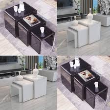 100 Living Room Table Modern Details About High Gloss Nest Of 3 Coffee Side End Furniture UK