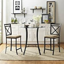 100 Dress Up Dining Room Chairs Dorel Living Valerie 3Piece Black Beige Counter Height Glass And