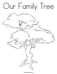 Our Family Tree Coloring Page Cool Pages Printable