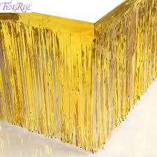 Foil Fringe Curtain Singapore by Fengrise Gold Foil Fringe Tinsel Curtain Metalic Tassel Grlands