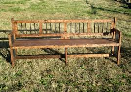 DIY Rustic Reclaimed Wood Extra Long Bench For Interesting Garden Decor