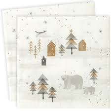 serviette de noel en papier serviettes de table papier noël nordique