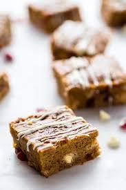 Healthy Chocolate Pumpkin Desserts by Cranberry White Chocolate Pumpkin Bars Gluten Free Vegan Option