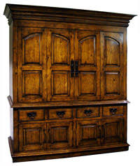 Rustic Furniture Spanish Hacienda Tuscan Style Media Cabinets
