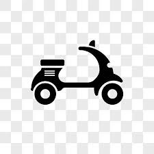 Scooter Bike Vector Icon Isolated On Transparent Background Logo Concept Stock