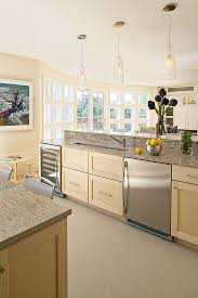kitchen contemporary shaker style light wood cabinets with