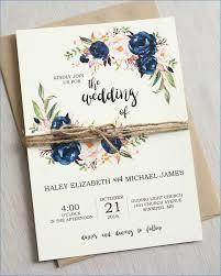 Wedding Invitations Blue