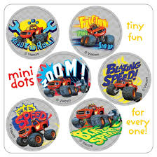 100 Mini Truck Stickers Blaze And The Monster Machines Dot From