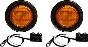100 Truck Marker Lights 2 Amber 8 LED Trailer Semi KIT