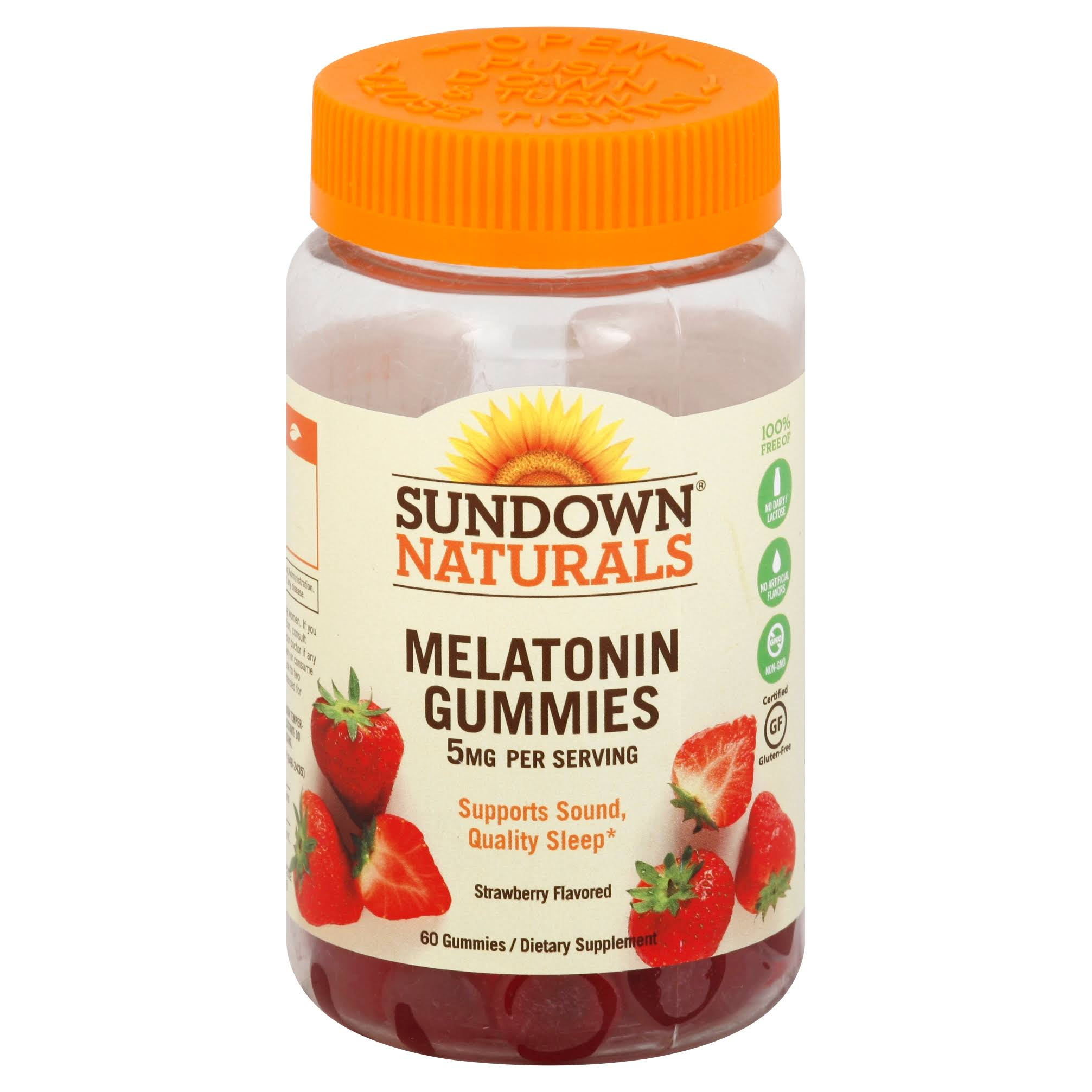 Sundown Naturals Melatonin Strawberry Dietary Supplement - 5mg, 60 Gummies