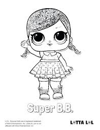 Lol Surprise Coloring Pages Super Glitter Doll Page Unicorn