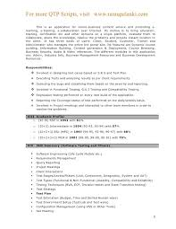 Qtp Sample Resume For Software Testers New Of