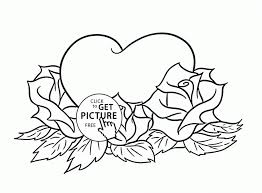 Large Size Of Coloring Pagesmarvelous Pages Roses And Hearts Pictures With Printable