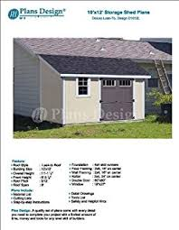 8x10 Shed Plans Materials List by 8 U0027 X 10 U0027 Deluxe Shed Plans Lean To Roof Style Design D0810l