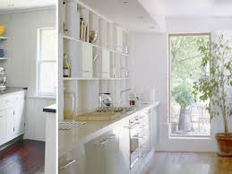 miraculous white galley kitchen dark floors smith design