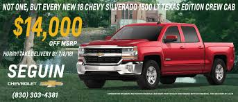 Seguin Chevrolet - New & Used Chevrolet Dealership Serving New ... New 2018 Ram 3500 Crew Cab Pickup For Sale In Braunfels Tx Breakfast Bro Texas Edition Krauses Cafe Biergarten Of Glory Bs Cottage Time Out 2009 Ford F150 Xl City Randy Adams Inc 2017 Nissan Frontier Sl San Antonio 2013 Toyota Tacoma Reservation On The Guadalupe Tipi Outside Nb Signs Design Custom Youtube 2500 Mega Call 210 3728666 For Roll Off Containers