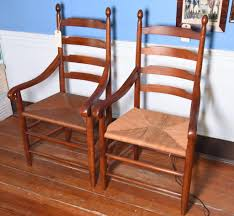 Lot: Lot #493 - Pair Of Contemporary Cherry Ladder Back Rush ... 6 Ladder Back Chairs In Great Boughton For 9000 Sale Birch Ladder Back Rush Seated Rocking Chair Antiques Atlas Childs Highchair Ladderback Childs Highchair Machine Age New Englands Largest Selection Of Mid20th French Country Style Seat Side By Hickory Amina Arm Weathered Oak Lot 67 Set Of Eight Lancashire Ladderback Chairs Jonathan Charles Ding Room Dark With Qj494218sctdo Walter E Smithe Fniture Design A 19th Century Walnut High Chair With A Stickley Rush Weave Cape Ann Vintage Green Painted