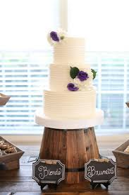 White And Purple Rustic Wedding Cake