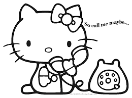 Kitty Coloring Pages Photo