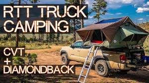ULTIMATE Truck Roof Top Tent Camping - CVT On DiamondBack Cover ...