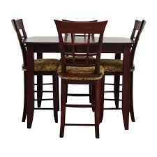 48% OFF - High Top Dining Table With Four Chairs / Tables Kitchen Design Counter Height Ding Room Table Tall High Hightop Table With 4 Leather Chairs Top Hanover Monaco 7piece Alinum Outdoor Set Round Tiletop And Contoured Sling Swivel Chairs High Kitchen Set Replacement Scenic Top Wning Amazing For Sets Marble Square And Glass Small Pub Style Island Home Design Ideas Black Cocktail Low Tables Astonishing Rooms Modern Wood Dark 2