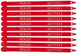 Security Seals: Amazon.com 13 Inch Hd Red Plastic Security Seal Secure Cable Ties Manufacturer Of Plastic Seals Indicative Pull Tight Introducing Our Brand New Online Custom Builder Seals Tamper Evident Adjusted Length Security Truck Free Number Printed 40pcs High Quality 21cm Logistics Seal Tanker Hoefon Uniflag Big Tag Universeal Uk Ltd Whosale Cargo Buy Best
