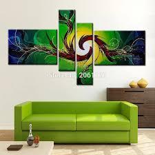 made moderne abstrakte wand malerei grün safa hintergrund dekoration leinwand malerei bild für wohnzimmer wand dekor