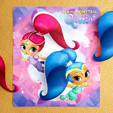 Shimmer And Shine Birthday Invitation Card Background Maker