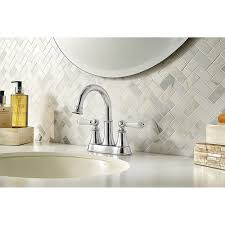 Ashfield Faucet Rustic Bronze by Polished Chrome Courant Centerset Bath Faucet Lf 048 Copc