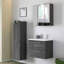 badezimmer möbel set in holz grau wirons 3 teilig