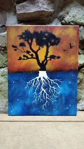 Tree Of Life Original Abstract Painting By TheMindBlossom Rustic Hippie Hipster