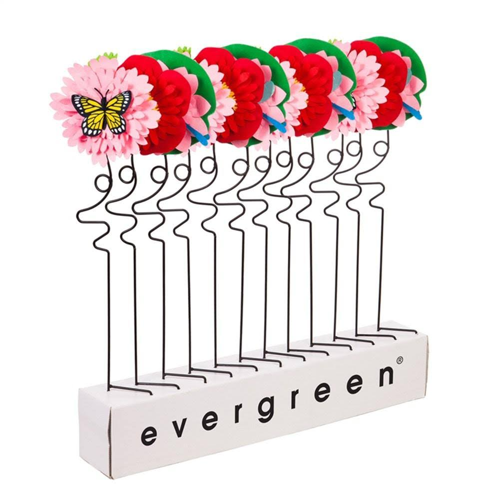 Evergreen Garden Stake Pink & Yellow Flowers & Friends Garden Stake One-Size