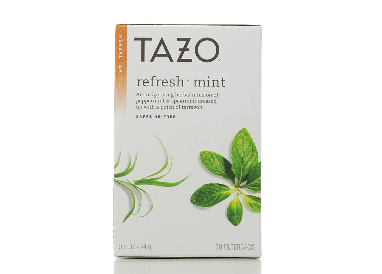 Tazo Refresh Mint Herbal Tea - 0.8oz, 20ct