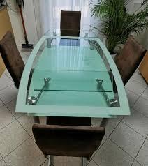 reduziert esszimmer glastisch 100x140cm ausziehbar auf 100x200cm