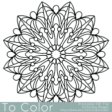 Coloring Pictures Of Horseshoes Simple Printable Pages Adults Gel Pens Mandala Pattern Martin Luther King Jr