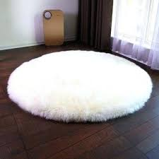 Faux Fur Round Chair New Sheepskin Cover Seat Pad Soft Carpet Hairy Plain Skin