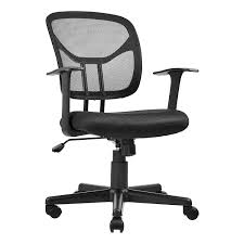 AmazonBasics Mid-Back Desk Office Chair With Armrests - Mesh Back, Swivels  - Black, BIFMA Certified High Back Black Fabric Executive Ergonomic Office Chair With Adjustable Arms Rh Logic 300 Medium Back Proline Ii Deluxe Air Grid Humanscale Freedom Task Furmax Desk Padded Armrestsexecutive Pu Leather Swivel Lumbar Support Oro Series Multitask With Upholstery For Staff Or Clerk Use 502cg Buy Chairoffice Midback Gray Mulfunction Pillow Top Cushioning And Flash Fniture Blx5hgg Mesh Biofit Elite Ee Height Blue Vinyl Without Esd Knob Workstream By Monoprice Headrest