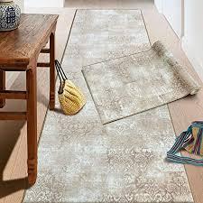teppich läufer auf maß davoli moderner wohnteppich für flur küche schlafzimmer meterware viele größen rutschfest robust pflegeleicht 80 x