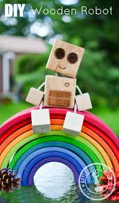 DIY Wooden Robot Buddy Easy Project For Kids Wood Projects