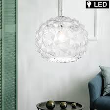 led pendelleuchte glaskugel transparent d 25 cm