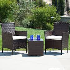 BELLEZE 3pc Outdoor Patio Wicker Cushion Seat Coffee Backyard Yard ... Bar Outdoor Counter Ashley Gloss Looking Set Patio Sets For Office Cosco Fniture Steel Woven Wicker High Top Bistro Tables Stool Cabinet 4 Seasons Brighton 3 Piece Rattan Pure Haotiangroup Haotian Sling Home Kitchen Hampton Lowes Portable Propane Chair Walmart Room Layout Design Ideas Bay Fenton With Set Of Coffee Table And 2 Matching High Chairs In Portadown Carleton Round Joss Main Posada 3piece Balconyheight With Gray