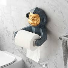 harz affe statue tissue halter wand für bad küche wc
