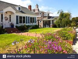 100 Point Loma Houses In A Street San Diego Area California Stock Photo