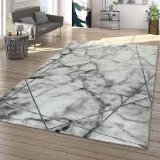 teppich wohnzimmer grau silber schlafzimmer marmor design 3