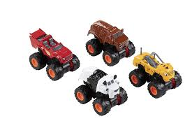 100 Monster Truck Kids Amazoncom Blue Panda 4Pack PullBack Car Toys