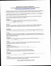 General Resume Objectives Statements R8PF Objective Statement Examples