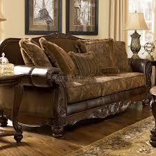 Claremore Sofa And Loveseat by Transform Fresco Durablend Antique Sofa And Loveseat For Latest