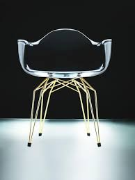 kubikoff chair transparant gold moderne stühle