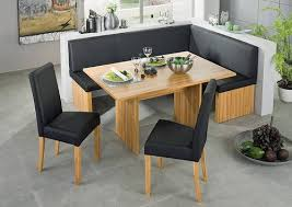 corinna white black leather dining set kitchen booth breakfast